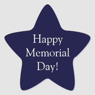 Happy Memorial Day Star Sticker