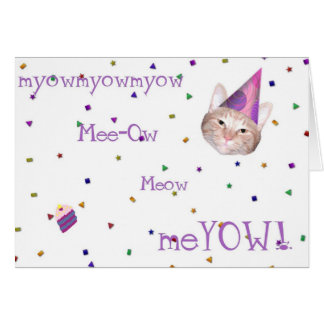 Happy Meow Birthday Card