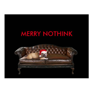 Happy Merry Christmas Holidays Ironic Dog Postcard