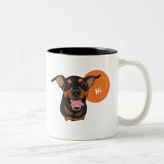 Happy Min Pin Miniature Pinscher Dog Coffee Mug