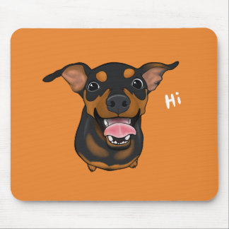 Happy Min Pin Miniature Pinscher Dog Mousepad