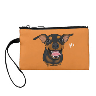 Happy Min Pin Miniature Pinscher Key Coin Clutch