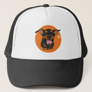 Happy Min Pin Miniature Pinscher Trucker Hat