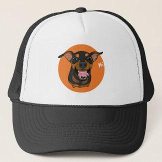 Happy Min Pin Miniature Pinscher Trucker Hat