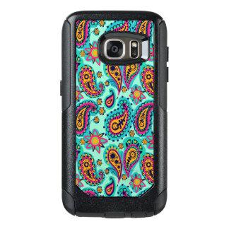 Happy Mint and Orange Paisley Pattern OtterBox Samsung Galaxy S7 Case
