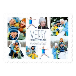 """Happy Modern Merry Christmas Photo Collage 