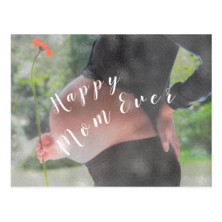 Happy Mom Ever Congratulations Photo Mothers Day Postcard