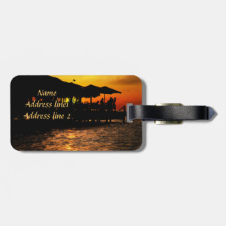 happy moments tropical travel luggage tag