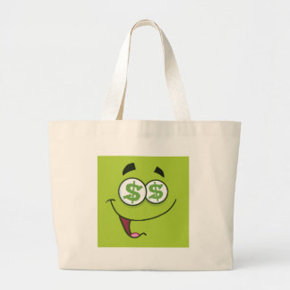 Happy Money Emoji Large Tote Bag