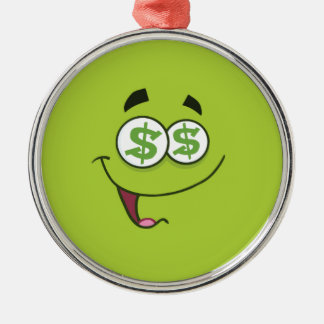 Happy Money Emoji Metal Ornament