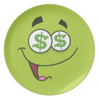 Happy Money Emoji Plate