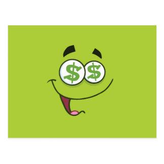 Happy Money Emoji Postcard