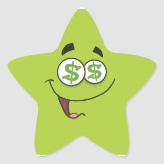 Happy Money Emoji Star Sticker