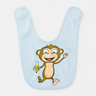 Happy Monkey Baby Bib