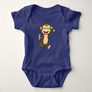 Happy Monkey Baby Jersey Bodysuit