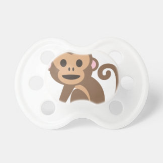 Happy Monkey Cartoon Pacifier