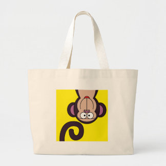 HAPPY MONKEY LARGE TOTE BAG