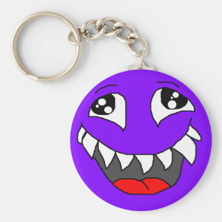 HAPPY MONSTER BASIC ROUND BUTTON KEYCHAIN