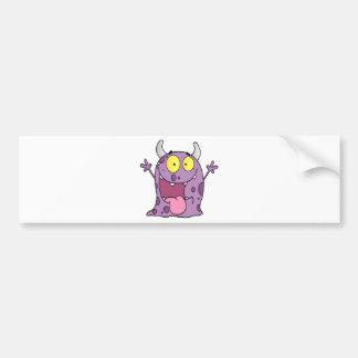 Happy Monster Cartoon Character Bumper Sticker