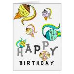 Happy Monster Icecream Cone Birthday Card
