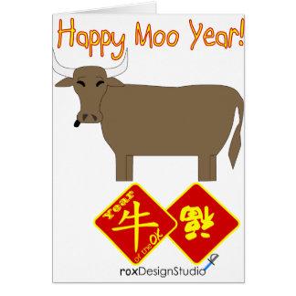 Happy Moo Year Card
