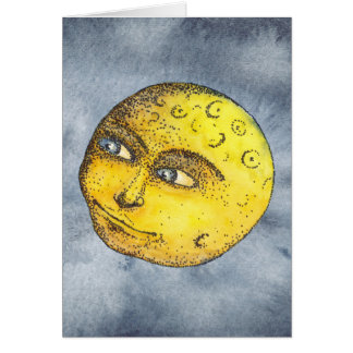 Happy Moon Card