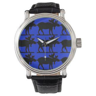 Happy Moose - BluBkg Wrist Watch
