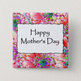 Happy Mother's Day 2 Inch Square Button