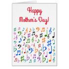 """Happy Mother's Day!"" + Colorful Music Symbols Card"