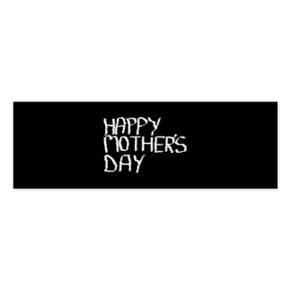 Happy Mother s Day In Black and White Business Card Templates