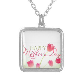 Happy Mothers Day 2013 Silver Plated Necklace