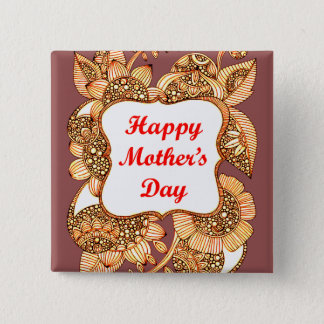 Happy Mother's Day 2 2 Inch Square Button