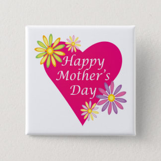Happy Mothers Day 2 Inch Square Button