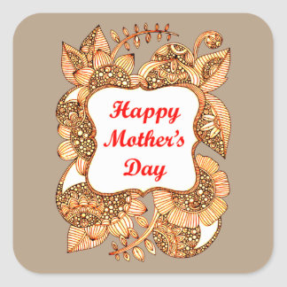 Happy Mother's Day 2 Square Sticker