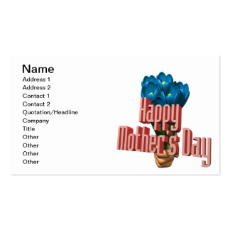 Happy Mothers Day 3 Business Card Template