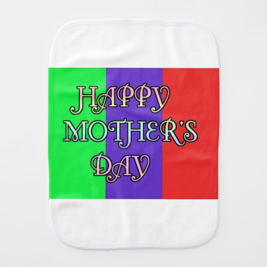 HAPPY MOTHER'S DAY BABY BURP CLOTHS