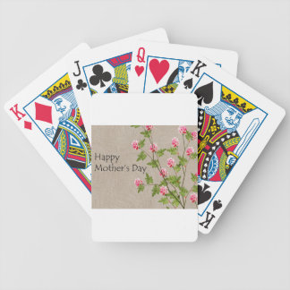 Happy Mothers Day Bicycle Playing Cards