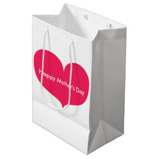 Happy Mother's Day   Big Pink Heart Gift Bag