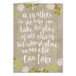 Happy Mother's Day Burlap Garden Floral Card Greeting Card