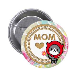 Happy mother's day Button - Kitty