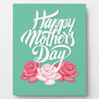 Happy Mother's Day calligraphy with roses Plaque