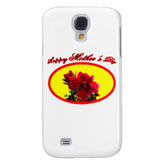 Happy Mother's Day Camellia bg Yellow The MUSEUM Z Galaxy S4 Cases