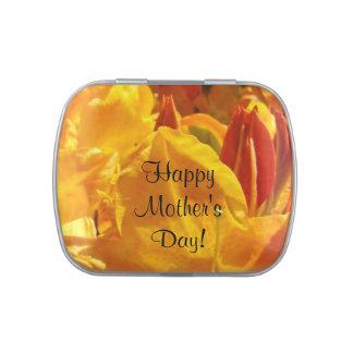 Happy Mother's Day candy tins Orange Rhodies