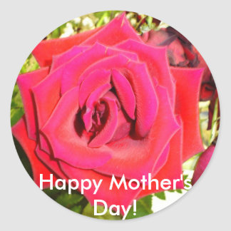"""""""Happy Mother's Day!"""" Classic Round Sticker"""