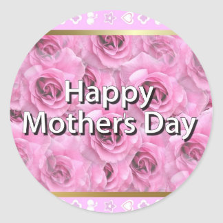 Happy Mother's Day Classic Round Sticker