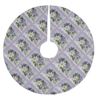Happy Mother's Day Clematis Brushed Polyester Tree Skirt