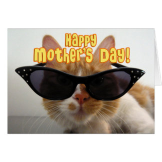 Happy Mother's Day - Cool Cat in Sunglasses Greeting Card
