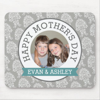 Happy Mother's Day - Custom Photo Template damask Mouse Pad