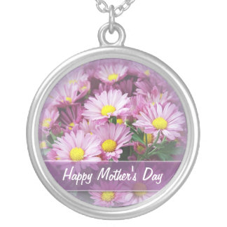 Happy Mother's Day Daisies - Pendant Necklace