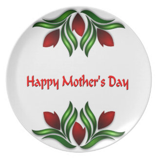 Happy Mother's Day Dinner Plates